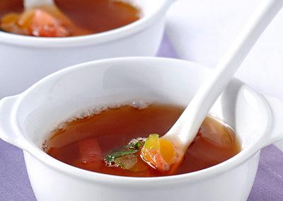 Tomaten- kippensoep
