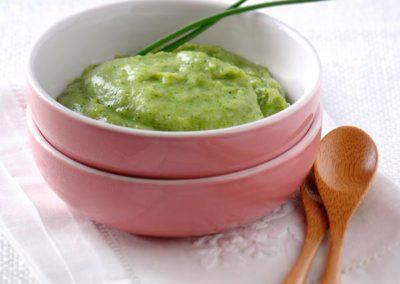 Puree van Aardappel en Broccoli met Gerookte Forel