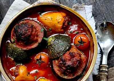 Courgette tomaat ovenschotel