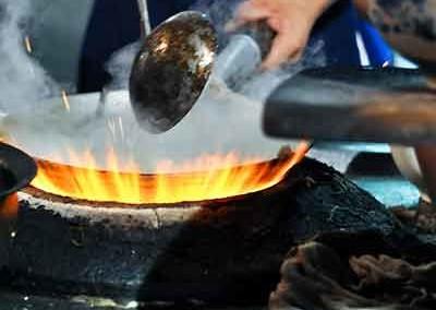 Gecarameliseerde soja champignons